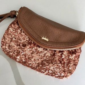 Juicy Couture Rose Gold Wristlet Clutch